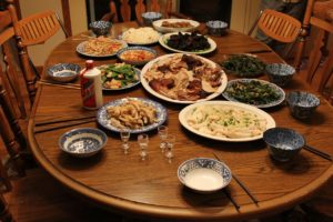 Chinese Thanksgiving Meal